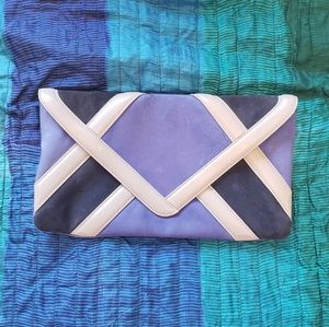 Uterque leather clutch in two blues